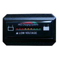 Dual Pro Battery Fuel Gauge - DeltaView Link Compatible - Rectangle - 12V System (1-12V Battery, 2-6V Batteries) [BFGWOVR12V]