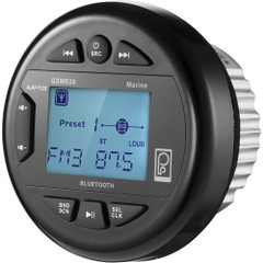 Poly-Planar GSMR20 AM\/FM Bluetooth Gauge Series Marine Radio [GSMR20]