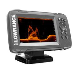 """Lowrance HOOK-5x 5"""" GPS SplitShot Fishfinder w\/Track Plotter Transom Mount SplitShot Transducer [000-14016-001]"""