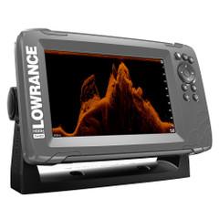 """Lowrance HOOK-7x 7"""" GPS SplitShot Fishfinder w\/Track Plotter Transom Mount SplitShot Transducer [000-14020-001]"""