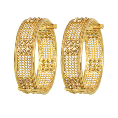 Stone studded Gold Plated Set of Kada