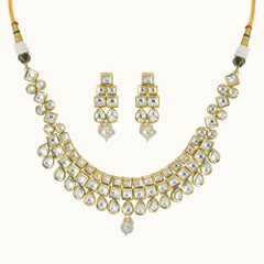 Heavy Kundan work Necklace Set
