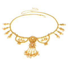 Necklace Style Gold Plated Waist belt