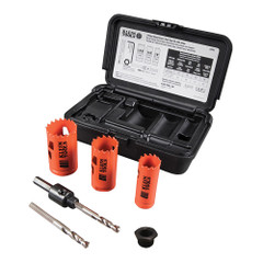 Klein Tools 3-Piece Electricians Hole Saw Kit w\/Arbor [32905]