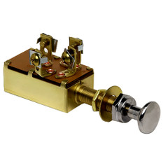 Cole Hersee Push Pull Switch SPST On-On-Off 3 Screw [M-531-BP]