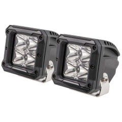 "HEISE 4 LED Cube Light w\/Harness - Spot Beam- 3"" - 2 Pack [HE-HCL2S2PK]"