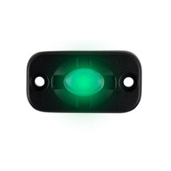 "HEISE Auxiliary Accent Lighting Pod - 1.5"" x 3"" - Black\/Green [HE-TL1G]"