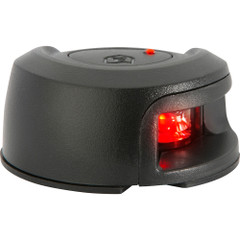 Attwood LightArmor Deck Mount Navigation Light - Black Composite - Port (red) - 2NM [NV2012PBR-7]