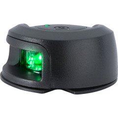 Attwood LightArmor Deck Mount Navigation Light - Black Composite - Starboard (green) - 2NM [NV2012PBG-7]