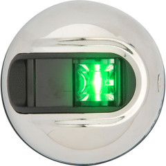 Attwood LightArmor Vertical Surface Mount Navigation Light - Starboard (Green) - Stainless Steel - 2NM [NV3012SSG-7]