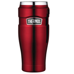 Thermos Stainless King Vacuum Insulated Travel Tumbler - 16 oz. - Stainless Steel\/Cranberry [SK1005CRTRI4]