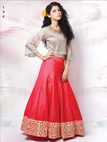 Red color Banglori Silk Fabric Lehenga Choli