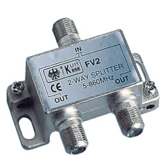 Glomex 2-Way Splitter TV - TV or TV - FM [V9147]