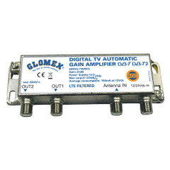 Glomex Auto Gain Control Amp - 12\/24VDC f\/2 TV Outputs [50023\/14]