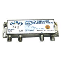 Glomex Auto Gain Control Amp - 12\/24VDC f\/2 TV Outputs [50023\/14]