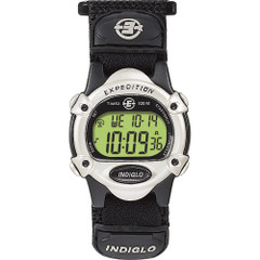 Timex Expedition Womens Chrono Alarm Timer - Silver\/Black [T47852]