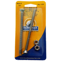 Handi-Man Phillips Machine Oval Screw - 1\/4-20 x 4 [707]