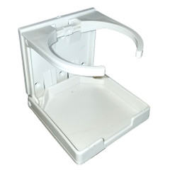 Innovative Lighting Adjustable Fold-Down Cup Holder - No Hardware - White [7-AFD-PWTANH]