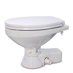 Jabsco Quiet Flush Freshwater Toilet - Regular Bowl w\/Soft Close Lid - 12V [37045-4192]