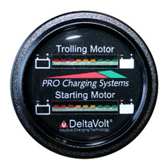 Dual Pro Battery Fuel Gauge - Marine Dual Read Battery Monitor - 12V\/24V System - 15 Battery Cable [BFGWOM1524V\/12V]