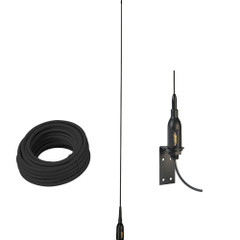 "Glomex AIS Antenna w\/Supplied ""L"" Bracket  66 Coax Cable [SGA100SBBK]"