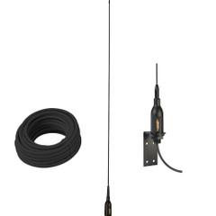 "Glomex AIS Antenna w\/Supplied ""L"" Bracket  66 Coax Cable [SGA100SBBK]"