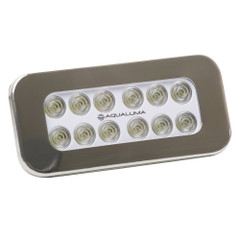 Aqualuma Flush Mount Spreader Light 12 LED - Stainless Steel Bezel [SL12FMS]