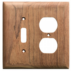 Whitecap Teak Toggle Switch\/Duplex\/Receptacle Cover Plate [60178]