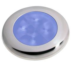 Hella Marine Polished Stainless Steel Rim LED Courtesy Lamp - Blue [980503221]