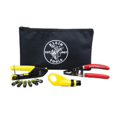 Klein Tools Coax Cable Installation Kit w\/Zippered Pouch [VDV026-211]