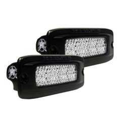 RIGID Industries SR-Q PRO Back Light Kit - Flush Mount Diffused - Pair - Black [980033]