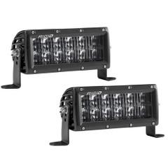 "RIGID Industries SAE Compliant E-Series 6"" Light Bar - Pair - Black [106613]"