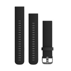 Garmin Quick Release Band (20mm) w\/Slate Hardware - Black Silicone [010-12561-03]