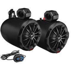 "Boss Audio B82ABT 8"" 2-Way Amplified Waketower Speakers w\/Bluetooth Controller [B82ABT]"