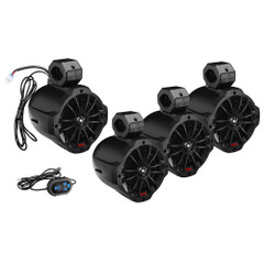 "Boss Audio B62ABT 6.5"" 2-Way Amplified Waketower Speakers w\/Bluetooth Controller - Set of 4 [B64ABT]"