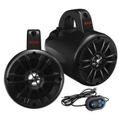 "Boss Audio BM40AMPBT 4"" 2-Way Amplified Roll Cage/Waketower Speaker Pods w/Bluetooth Controller [BM40AMPBT]"