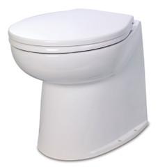 """Jabsco Deluxe Flush 14"""" Straight Back 12V Electric Toilet w\/Solenoid Valve [58080-1012]"""