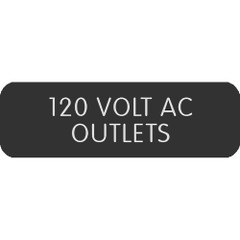 "Blue Sea Large Format Label - ""120 Volt AC Outlets"" [8063-0006]"