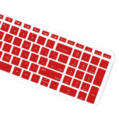 "Keyboard Protector Skin Cover for HP Pavilion 15.6"" 2018 New Series,HP Pavilion x360 15-BR075NR,HP Pavilion 15-BS 15-BW 15-CC 15-CB 15-CD,HP Envy x360 15M-BP 15M-BQ,17.3"" HP Envy 17M 17-BS - Red"