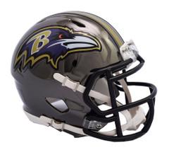 Baltimore Ravens Helmet Riddell Replica Mini Speed Style Chrome Alternate**Free Shipping**