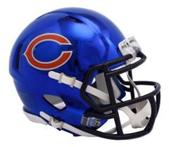 Chicago Bears Helmet Riddell Replica Mini Speed Style Chrome Alternate**Free Shipping**