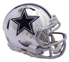 Dallas Cowboys Helmet Riddell Replica Mini Speed Style Chrome Alternate**Free Shipping**