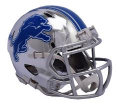 Detroit Lions Helmet Riddell Replica Mini Speed Style Chrome Alternate**Free Shipping**