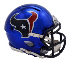 Houston Texans Helmet Riddell Replica Mini Speed Style Chrome Alternate**Free Shipping**