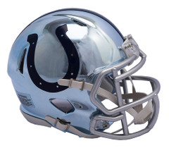 Indianapolis Colts Helmet Riddell Replica Mini Speed Style Chrome Alternate**Free Shipping**