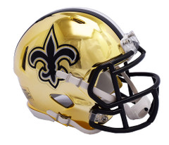New Orleans Saints Helmet Riddell Replica Mini Speed Style Chrome Alternate**Free Shipping**