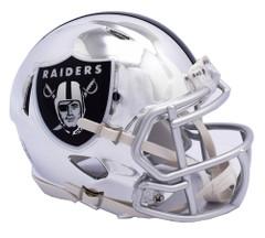 Oakland Raiders Helmet Riddell Replica Mini Speed Style Chrome Alternate**Free Shipping**