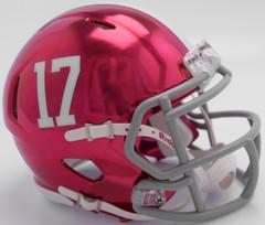 Alabama Crimson Tide Helmet Riddell Replica Mini Speed Style Chrome Alternate**Free Shipping**