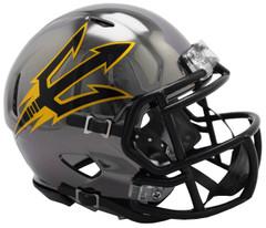 Arizona State Sun Devils Helmet Riddell Replica Mini Speed Style Chrome Alternate