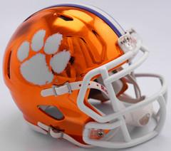 Clemson Tigers Helmet Riddell Replica Mini Speed Style Chrome Alternate**Free Shipping**